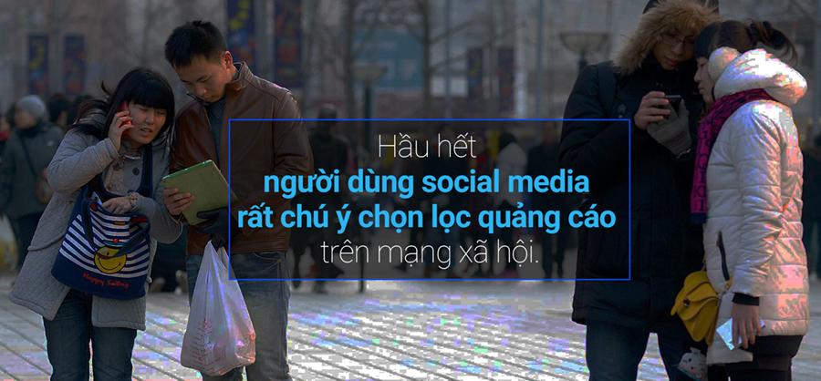Người dùng Trung Quốc rất chú ý chọn lọc quảng cáo trên social media
