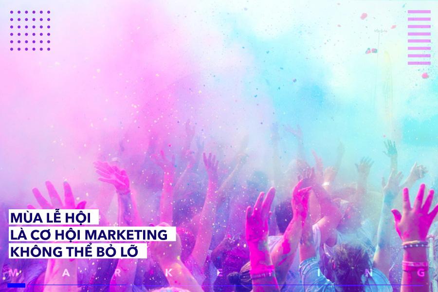 Các thương hiệu lớn thường tìm cơ hội gắn tên mình với mùa lễ hội quan trọng.