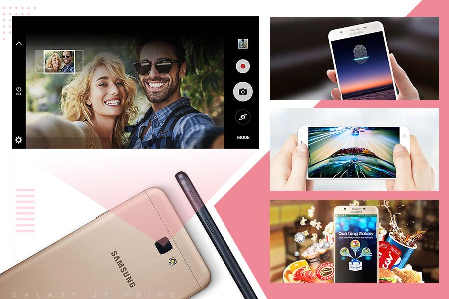 Galaxy J7 Prime Pink mang dáng vẻ và nhiều chức năng của một dòng flagship thực thụ
