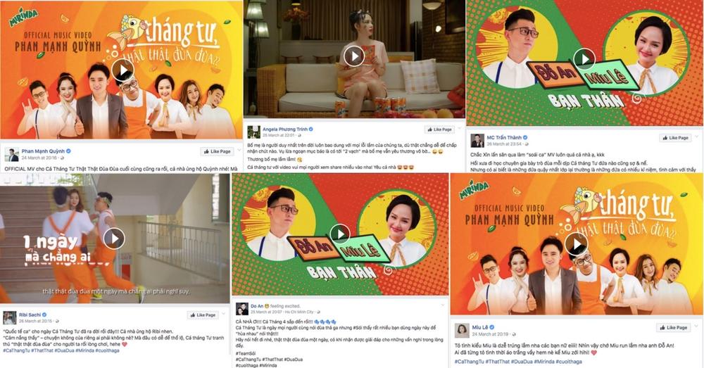 KOL lần lượt chia sẻ video âm nhạc của Phan Mạnh Quỳnh.