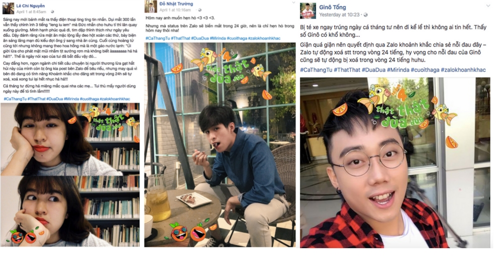 Người nổi tiếng cũng thay phiên chia sẻ khoảnh khắc của họ lên mạng xã hội.