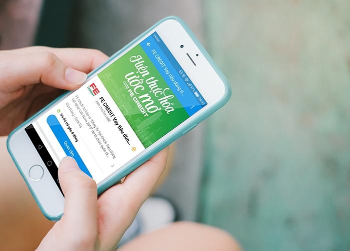 Nhờ sử dụng Zalo Official Account, FE Credit đã giảm được công sức vận hành qua hàng triệu tin nhắn gửi qua Zalo ngay trong tháng đầu tiên triển khai qua vài bước thiết lập thay vì gửi qua SMS.