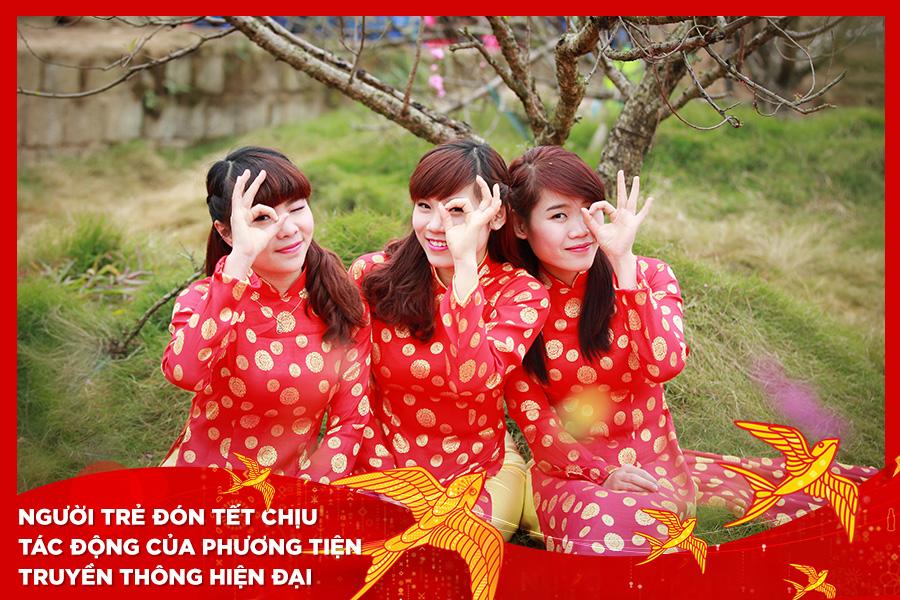 Người trẻ Việt đón Tết chịu ảnh hưởng của mạng xã hội và các kênh truyền thông hiện đại.