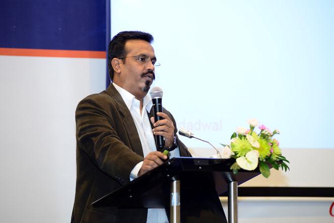 Ông Rohit nói về tầm quan trọng của di động đối với cuộc sống trước khi bắt đầu trao giải thưởng smarties