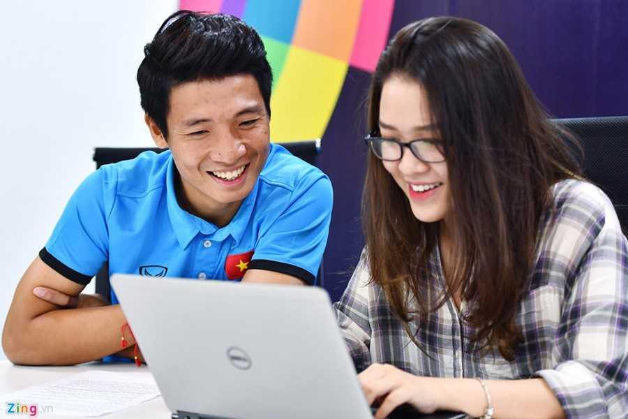 Buổi phỏng vấn tuyển U23 Việt Nam diễn ra tại Zing.vn