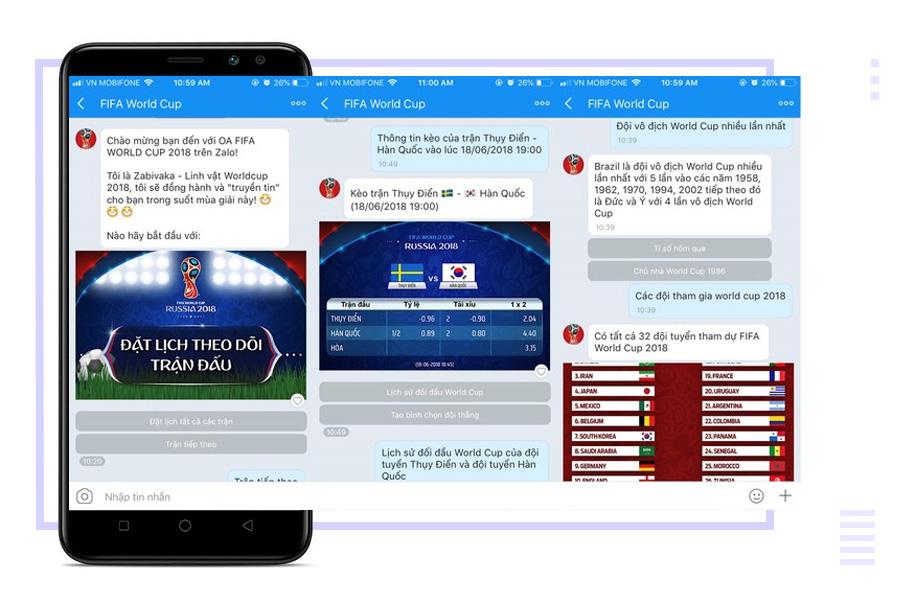 Chatbot FIFA World Cup - trợ lý ảo dí dỏm đồng hành cùng người hâm mộ bóng đá