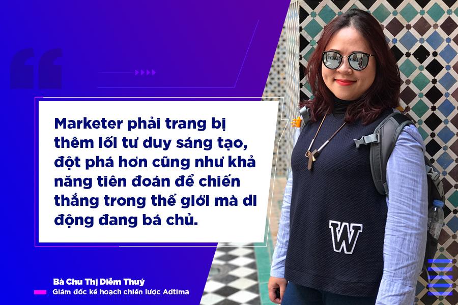 Bà Chu Thị Diễm Thuý chia sẻ đến marketer chiến lược tiếp cận người dùng trên di động
