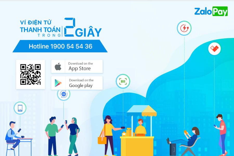 ZaloPay thanh toán trực tuyến trên di động chỉ mất 2 giây