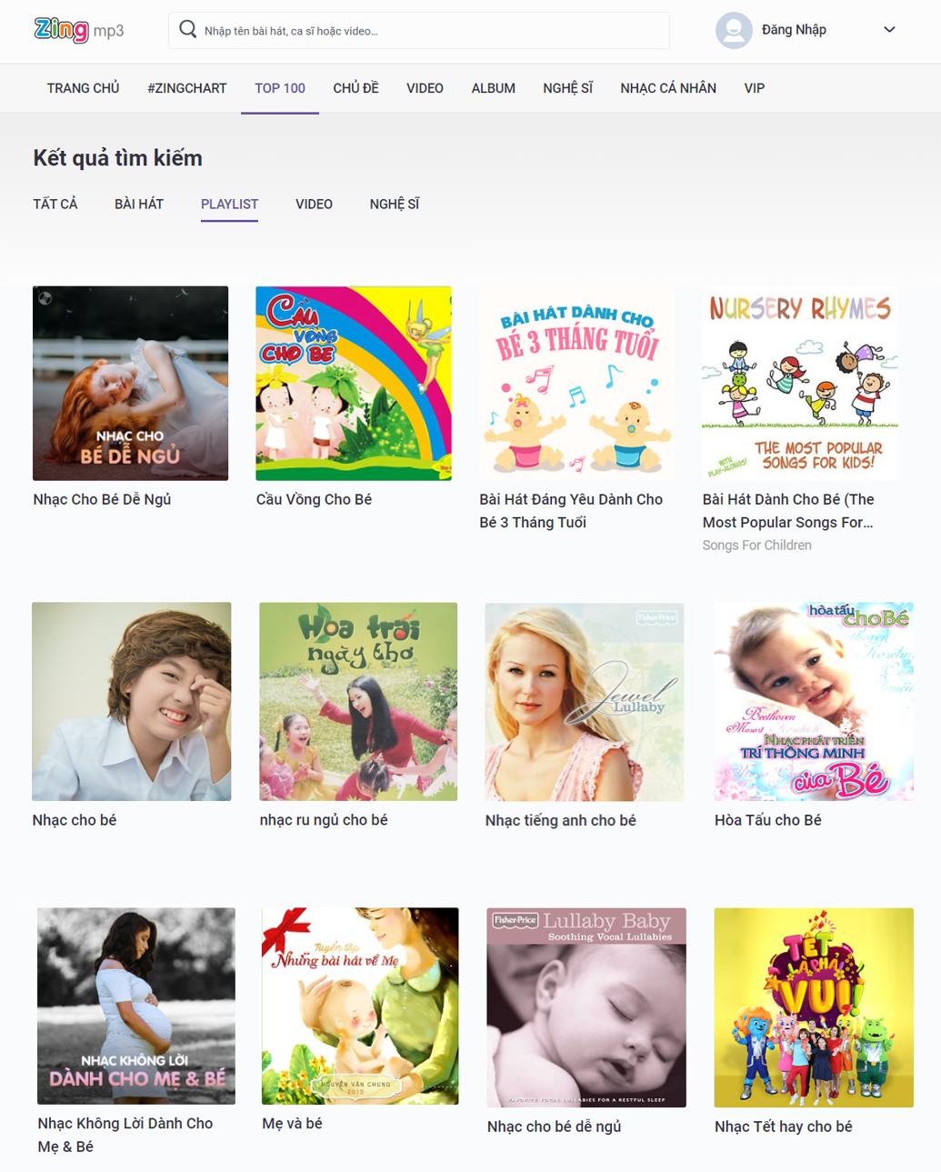 Rất nhiều playlist dành riêng cho mẹ & bé, thư giãn kết hợp thai giáo hiệu quả
