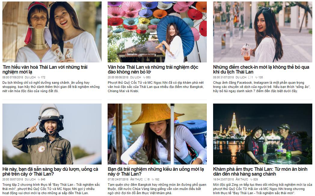 Chuyến du lịch Thái Lan được truyền tải đầy đủ với nội dung mới lạ
