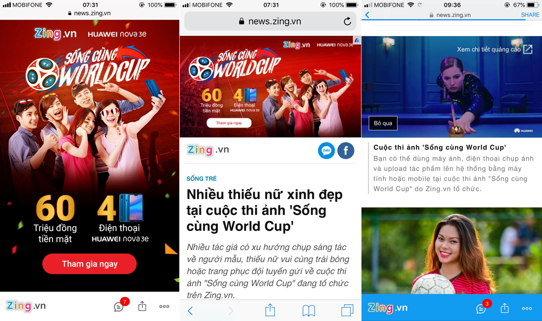 Đa dạng các bài viết và định dạng quảng cáo trên cả PC và Mobile